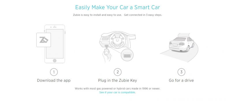 zubie-automotive-app-website-screenshot